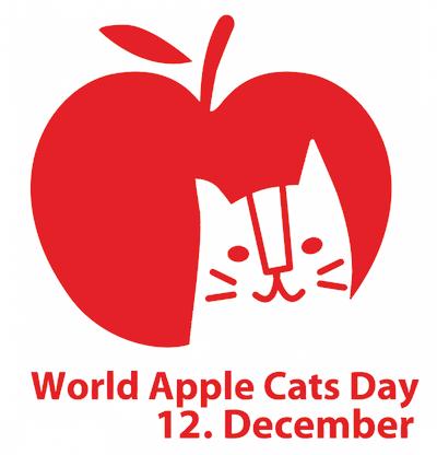 「世界りんご猫デー World Apple Cats Day」