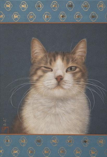 猫の絵画作品「一眼看盡」 by チン・ぺイイ(陳 珮怡)