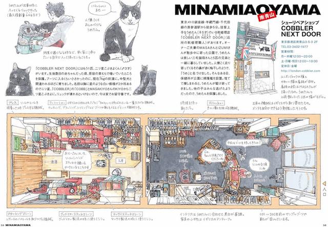 南青山 シューリペアショップ COBBLER NEXT DOORの俯瞰図 by 東京猫びより散歩