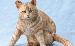 実在する猫をモデルにした100体以上の彫刻集「はしもとみお 猫を彫る」