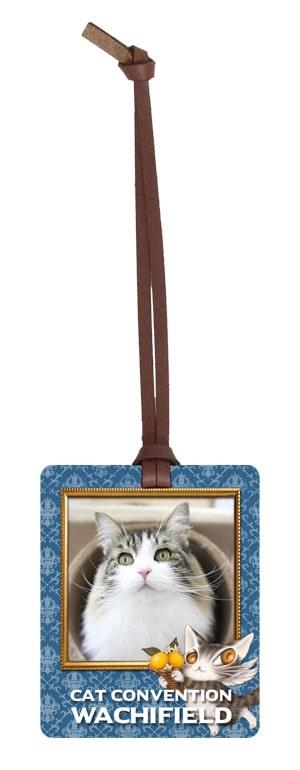 応募したネコ写真×ダヤンがコラボしたオリジナルの革タグ