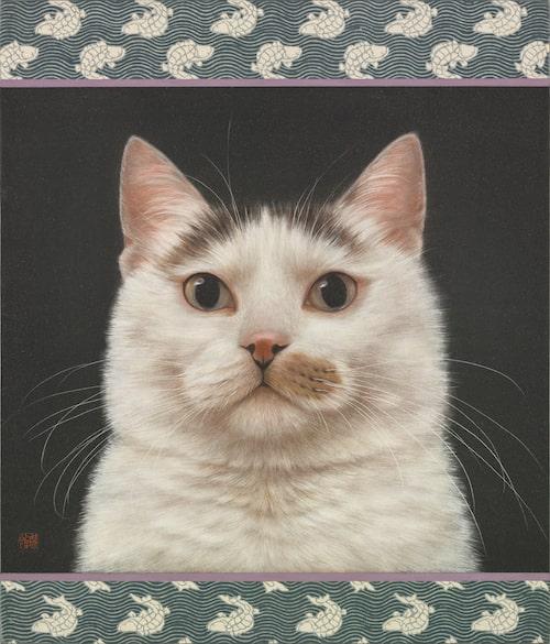 猫の絵画作品「弦月」 by チン・ぺイイ(陳 珮怡)
