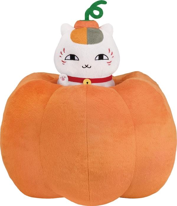 かぼちゃに入ったニャンコ先生ぬいぐるみ