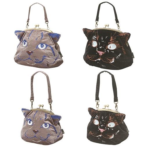 ルートートの猫がデザインされた「がまぐちトートバッグ」製品イメージ