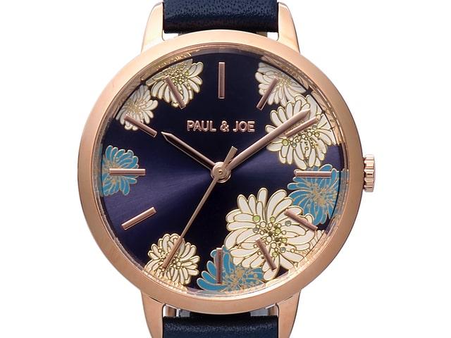 ポールアンドジョーの文字盤にクリザンテームがデザインされた腕時計CHRYSANTHEMUM(クリザンテーム)