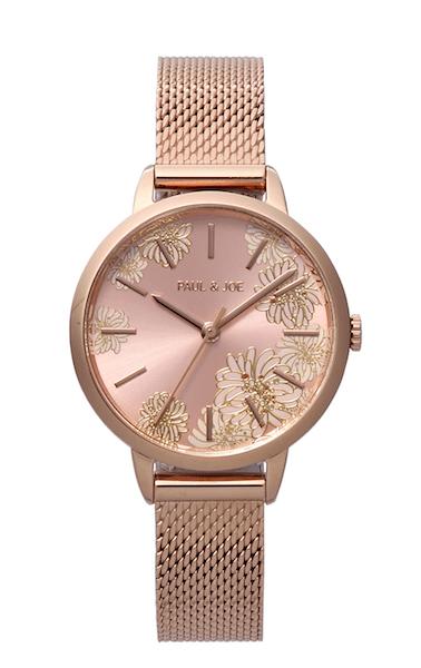ポールアンドジョーの腕時計CHRYSANTHEMUM(クリザンテーム)ピンクゴールド
