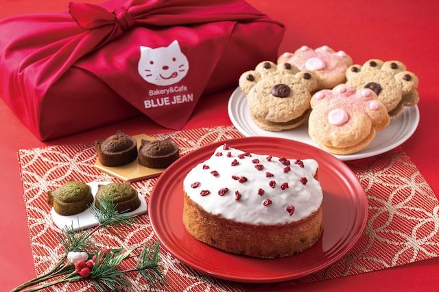 ブルージンの猫ケーキ&焼菓子詰め合わせ「新春いろねこセット」の商品イメージ