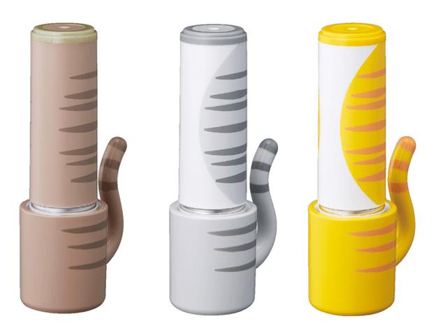 シャチハタ専用の猫柄パーツ「おめかしっぽ」のキジトラ/サバトラ/茶トラ