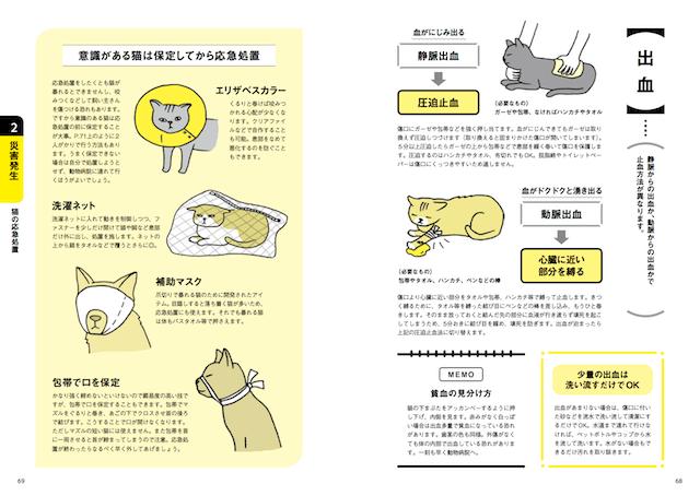 猫の応急措置について解説 by「決定版 猫と一緒に生き残る 防災BOOK」