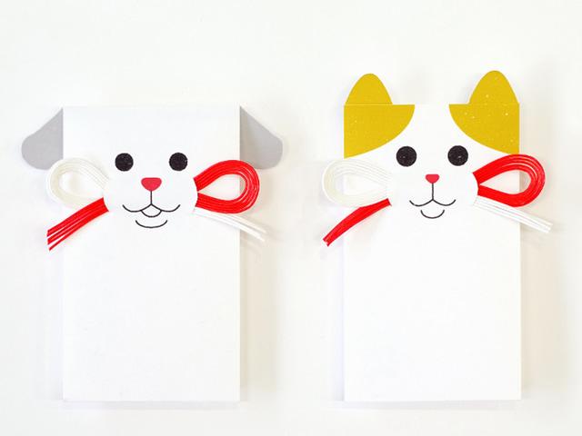 保護猫・保護犬の情報にアクセスできるポチ袋「タマ吉&ポチ福」