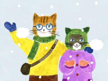 猫のイラストが前向きになれる習慣を紹介してくれる書籍「365日の願かけ」