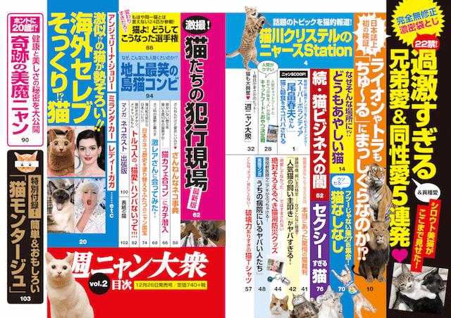 雑誌「週ニャン大衆 vol.2」の目次