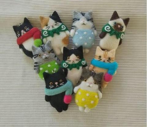 にゃんこまつりで販売される猫グッズ例