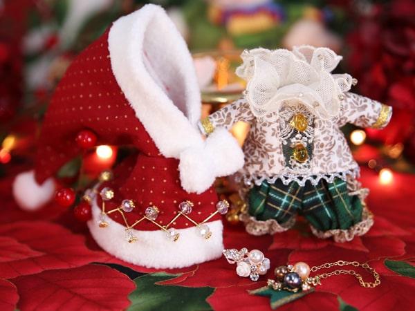 クリスマス仕様の猫ドール「Art PICASSO bean DX ver.」の衣装