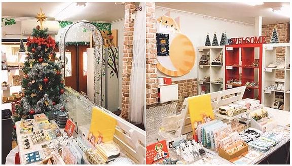 ねこねこクリスマスマーケットの店内&開催イメージ