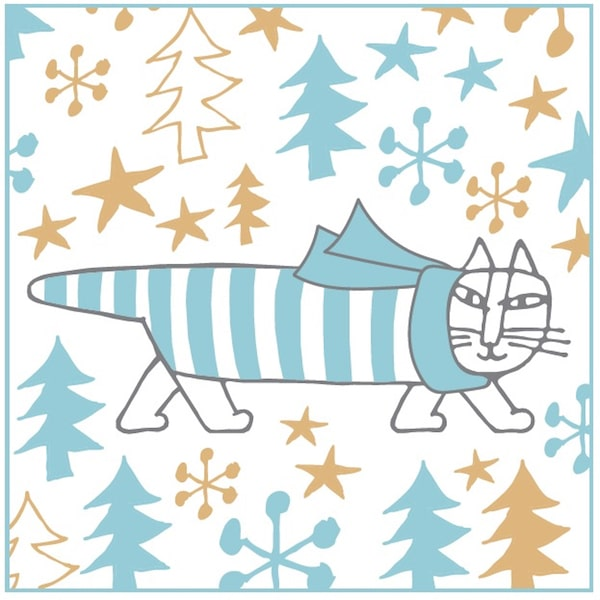 クリスマスカラーの「猫のマイキー」 by リサ・ラーソンのクリスマス