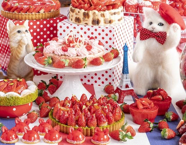猫と苺がコラボしたデザートフェア by ストロベリーCATS コレクション