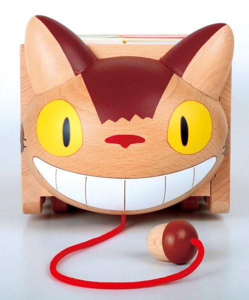 ネコバスの積み木の玩具、正面イメージ