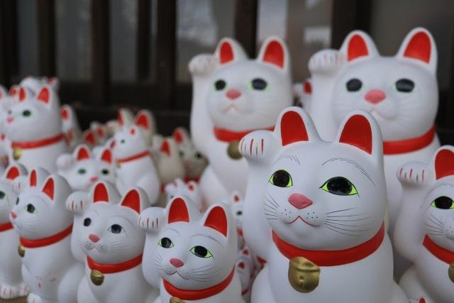 豪徳寺の招福猫児(まねぎねこ)