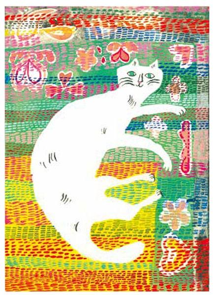トラネコボンボンこと、料理人の中西なちおさんが描く猫の絵