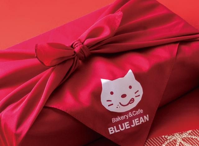 新春いろねこセットを包むオリジナル猫風呂敷