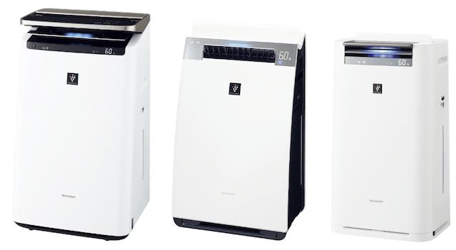 プラズマクラスター加湿空気清浄機KI-JP100-W(ホワイト系)、KI-JX75-W(ホワイト系)、KI-JS70-W(ホワイト系)