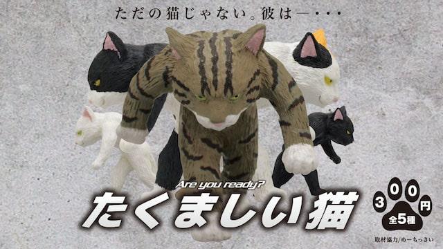 キタンクラブのフィギュアマスコット「たくましい猫」