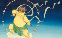 ネコ×葛飾北斎×宮沢賢治「ますむらひろし展」が岩手県立美術館で開催中