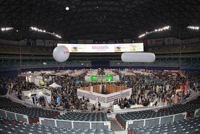 ナゴヤドームで開催されるペットイベント「わんにゃんドーム」の会場イメージ