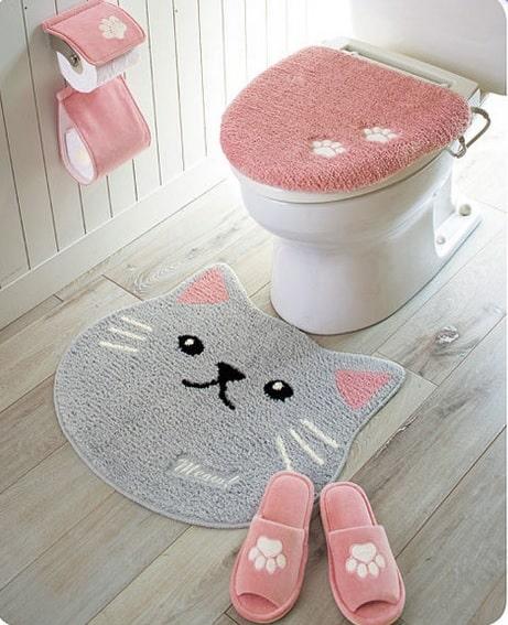 セシールの肉球デザインを採用したトイレ用小物シリーズ