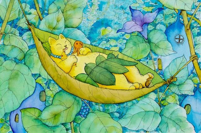ますむらひろし氏による猫の絵「あむちゃん」1986年発表