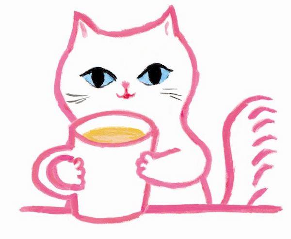 網中いづるさんが考案した猫キャラクター「ぐうたらネコのミルクちゃん」
