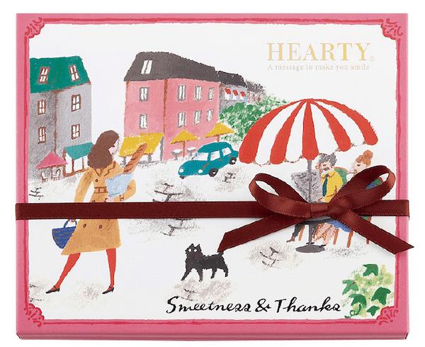 モロゾフのHEARTY(ハーティー)シリーズチョコレート、お気に入りの石畳