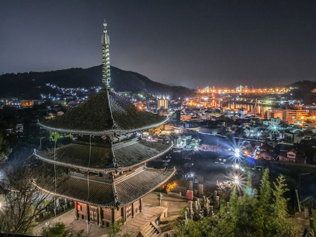 LUMIX 特別賞「天寧寺塔婆と箱庭的都市の夜景」