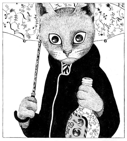 ますむらひろし《酔いどれ鉄の肖像》1976年発表