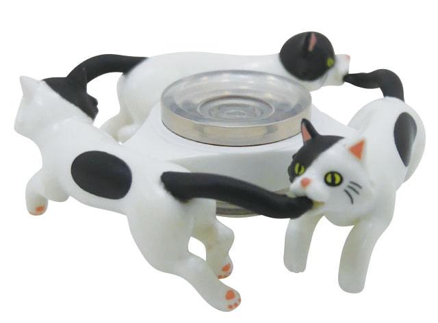ハンドスピナーの猫版「スピにゃ〜」のぶちねこバージョン