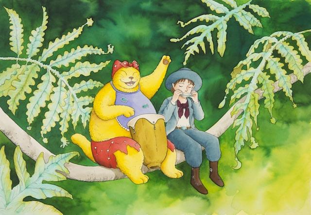 ますむらひろし《森に聴かせてる》1993年発表