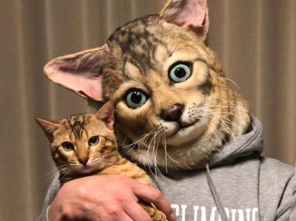超リアル!ペットの顔に変身できるオーダーメイドマスクMy Family(マイファミリー)
