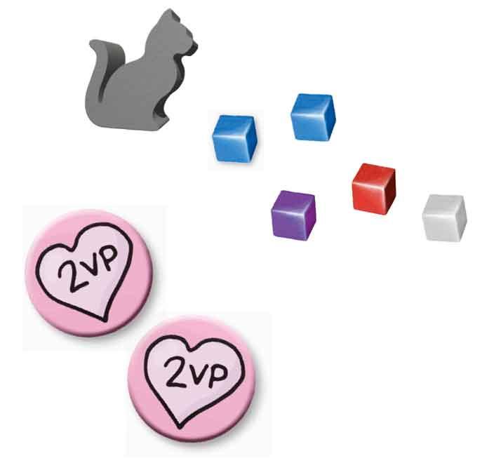 カードゲーム「とるネコ 完全日本語版」の付属品イメージ