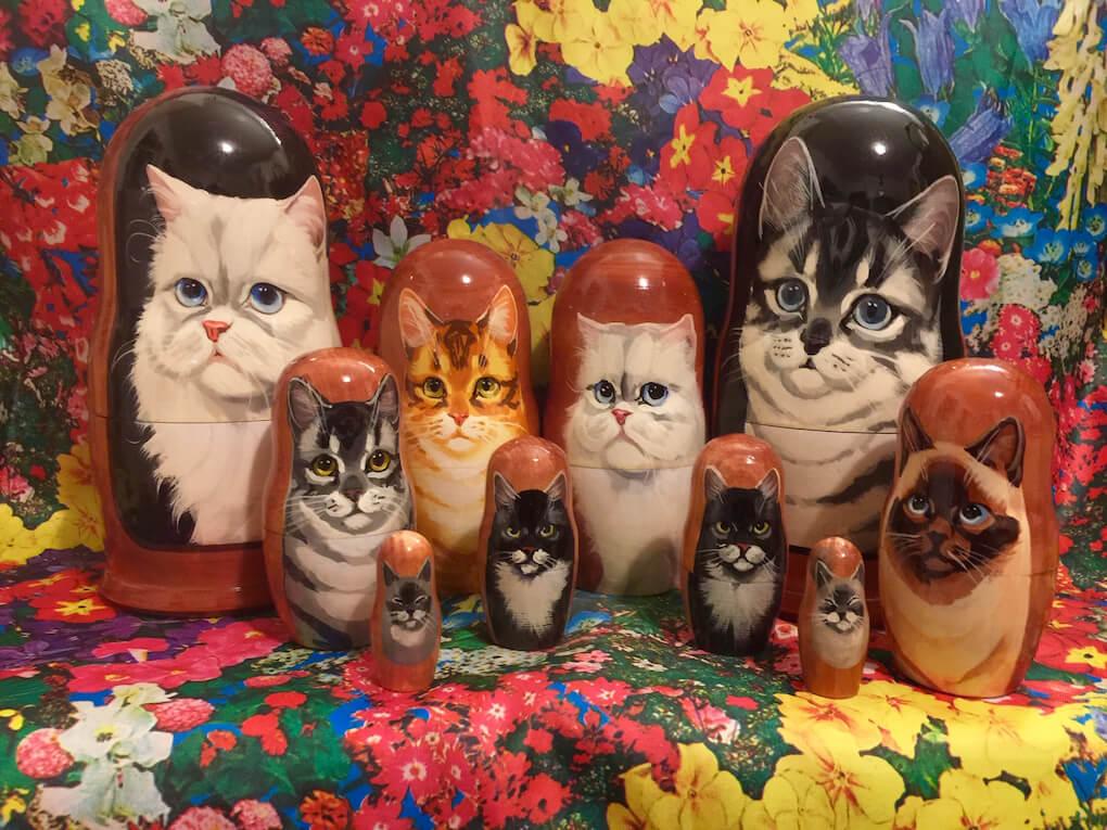 猫のマトリョーシカ「ネコリョーシカ」