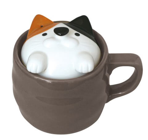 電子レンジでご飯が炊ける「アニマル炊飯マグ(三毛猫)」の製品イメージ