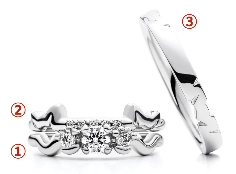 ネコモチーフの結婚指輪と婚約指輪「N.E.K.O(ネコ)」の第二弾 by AFFLUX