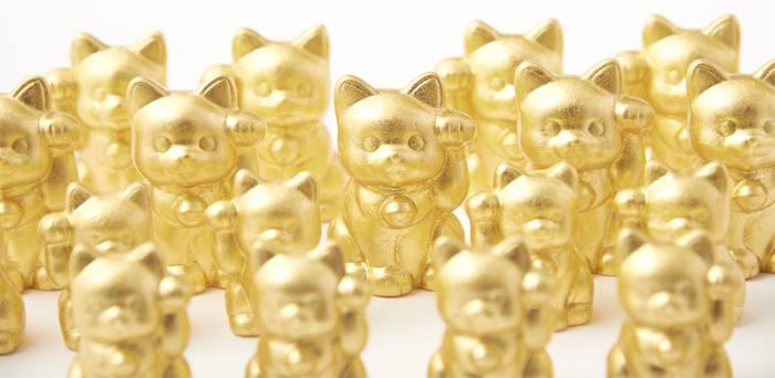 箔一の金箔で出来た「招き猫」