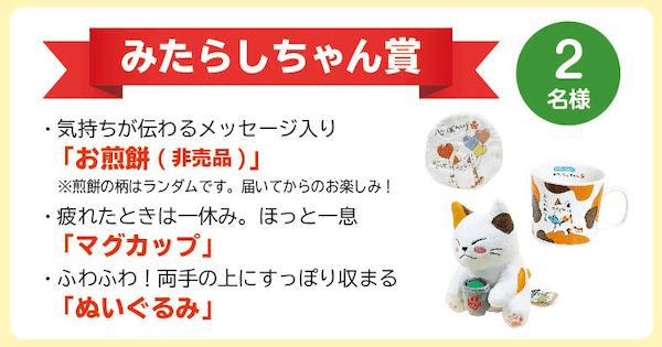 みたらしちゃん フォトコンテスト2019の賞品1