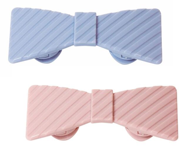 ほぐストラップ(リボン型)ブルーカラー、ピンクカラー