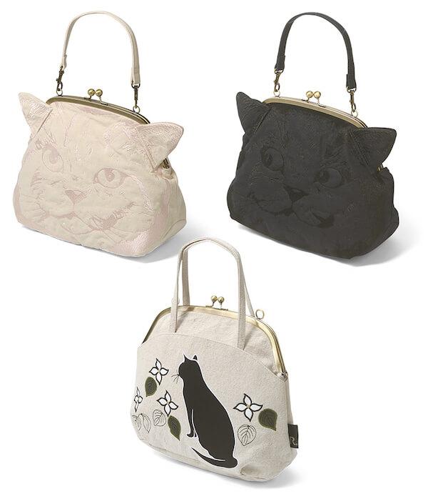 ルートートの猫のトートバッグ「EU.デリ エンブロイダリー アニマル-D/EU.デリ モチーフ-A」