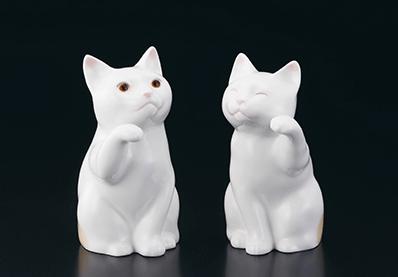 ノリタケの置物「招き猫」