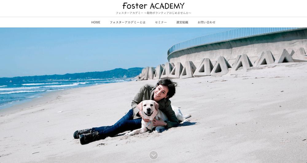 動物ボランティアの養成講座を運営しているフォスターアカデミー