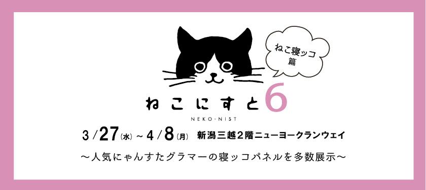 「ねこにすと展6〜にゃんすたグラマーのねこ寝ッコ篇〜」メインビジュアル