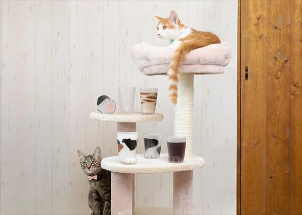 猫の手足をイメージして作られたグラス「ここねこグラス」